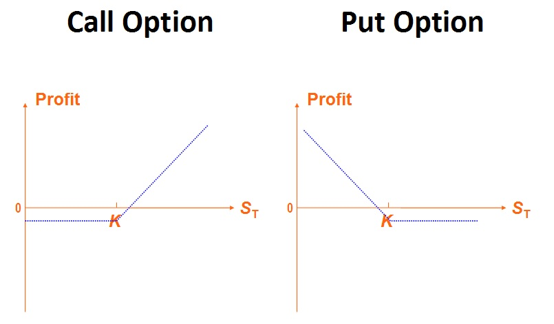 Simple Call and Put Option Payoffs